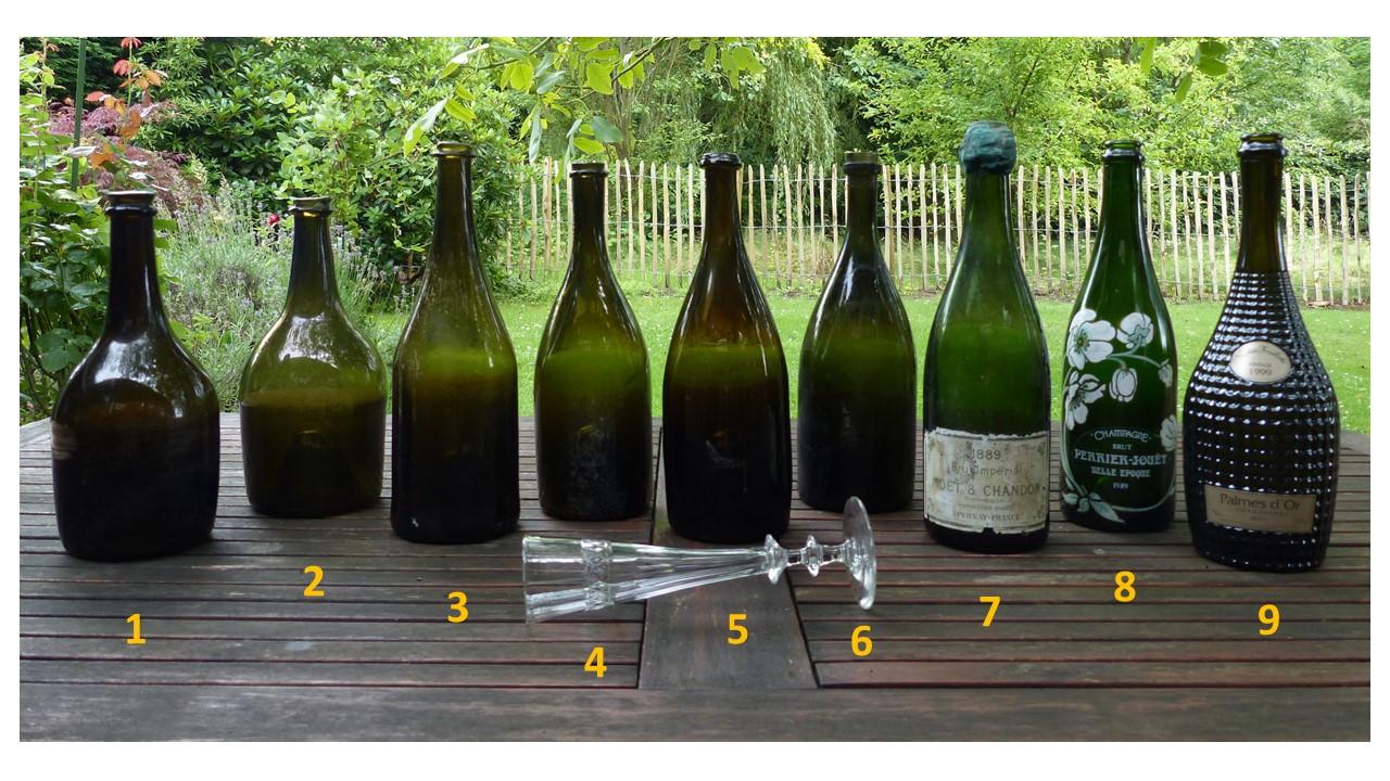 datant vieilles bouteilles en verre datant de l'anglais en argent sterling