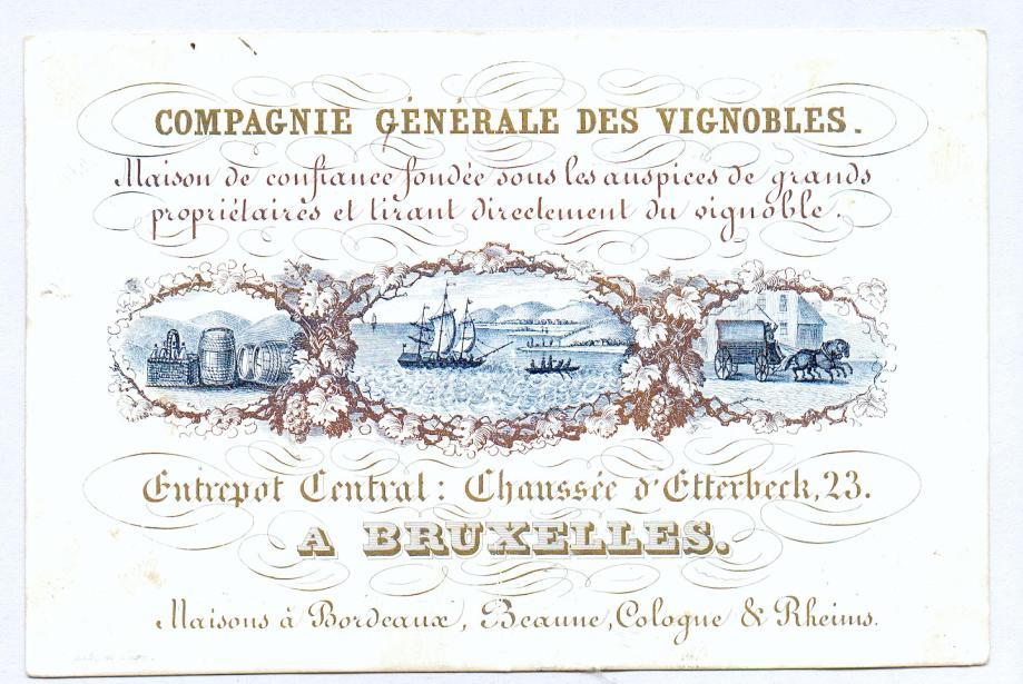 C Porcelaine Cie Gale des Vign 1840 R°